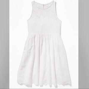 "Kids size M (8) white ""Old Navy"" dress"